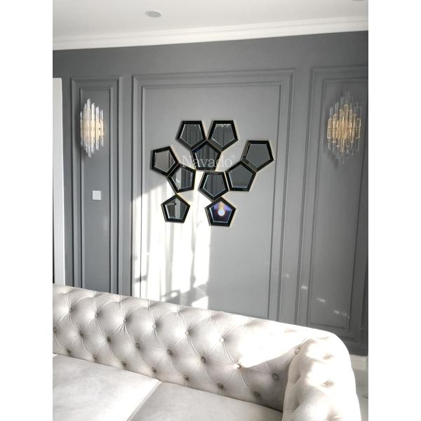Bộ gương trang trí phòng khách Luxury
