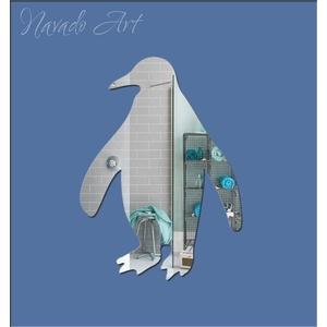 Gương decor trang trí hình chim cánh cụt