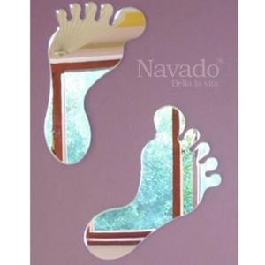 Gương trang trí decor hình bàn chân