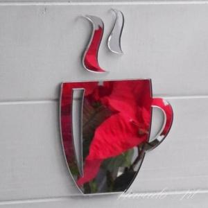 Gương trang trí hình cốc trà