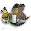Gương trang trí hình ong bee