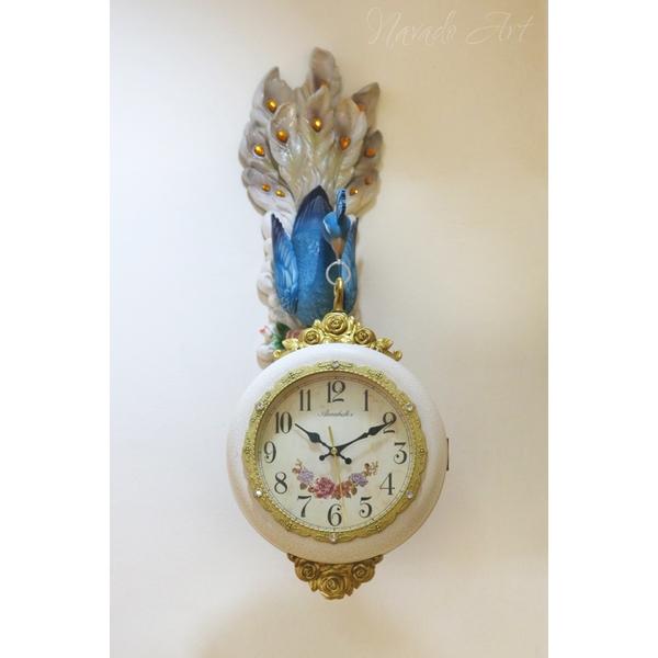 Đồng hồ nghệ thuật chim công