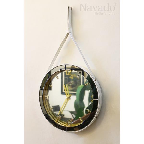Đồng hồ nghệ thuật dây treo bằng da cao cấp