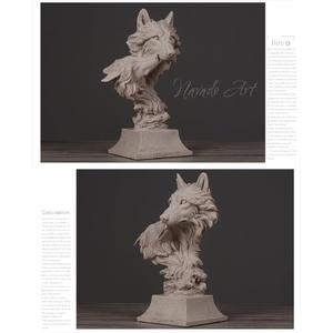 Bộ tượng để bàn mẹ con nhà sói