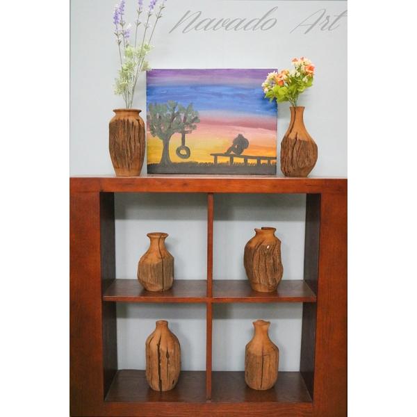 Bình nghệ thuật gỗ lũa xưa