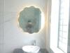 Gương led bàn trang điểm viền sóng