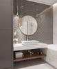 Gương tròn khung gỗ inox fi 70