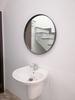 Gương tròn fi 60 viền gỗ nhà tắm