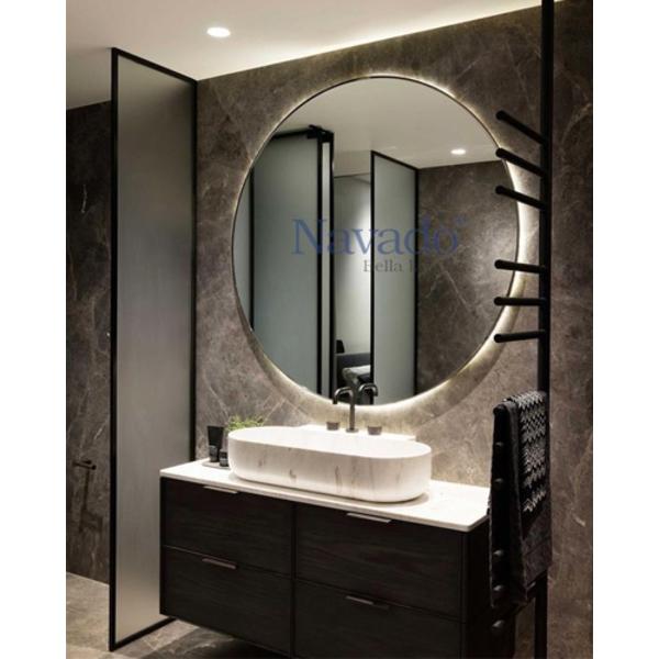 Các thiết kế gương trơn nhà tắm đẹp