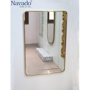Gương inox hình chữ nhật 60 x 80